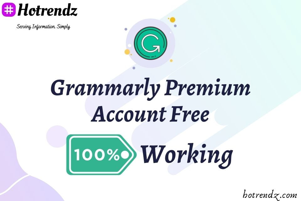 free grammarly premium account